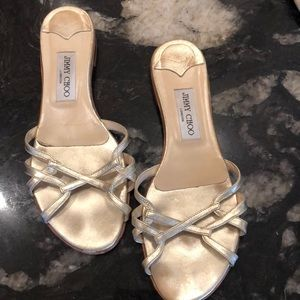 Jimmy Choo gold strappy sandal EURO 39